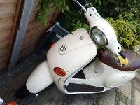 ** Vespa Piaggio 125cc* 1 YEAR MOT* 1 Owner From New* Engine After Professional Repair* Shell Welded