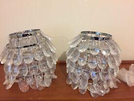 2 crystal lampshades