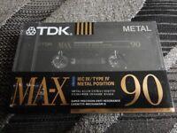 TDK 90 MA-X IEC IV/TYPE IV METAL POSITION CASSETTE, OFFERS
