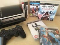 **CHEAP BUNDLE** - PS3 80GB Console + Wireless Controller + 7 Playstation 3 Games + All Leads
