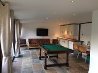 5 foot slate bed pool table/dining table