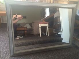 @@LOVELY SHABBY CHIC MIRROR PAINTED ANNE SLOAN GREY@@
