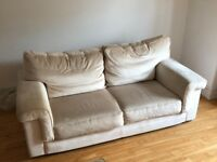 Quality Collins and Hayes large sofa and large armchair/loveseat