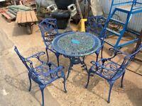 Blue Garden Furniture Set