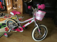 "Girls Cuda Blox 14"" bike, with basket and bell."