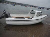 Orkney 440 Fishing Or Pleasure Boat 18hp Outboard Motor