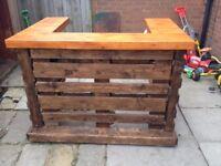 Hand built Pallet bar