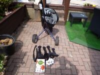 howson golf clubs,bag and trolley for sale. Wigan.
