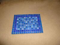 blue ceramic rectangular pot stand