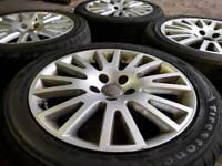 """GENUINE AUDI 17"""" ALLOY WHEELS & TYRES 5X112 A3 A4 TT VW GOLF CADDY PASSAT SEAT LEON"""