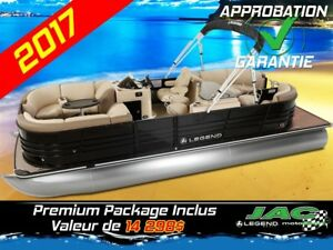2017 Legend Boats Ponton Black Series Bar 25 EL Bateau pêche **P