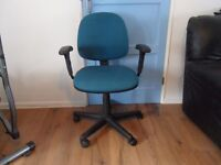 Blue/Green Computer Operator chairs