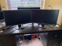 """Pair of Dell 23"""" flatscreen monitors"""