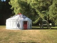 ☀️CANCELLATION AVAILABILITY ☀️ in our riverside yurt 3rd - 9th August
