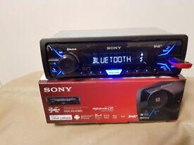 CAR HEAD UNIT SONY A500BD MP3 PLAYER WITH BLUETOOTH DAB USB AUX 4x 55 AMPLIFIER AMP STEREO RADIO BT