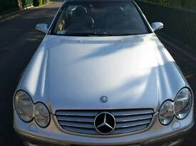 Mercedes Clk 320 eligance convertible automatic transmission silver black leather