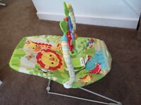 Fisher Price Rainforest vibrating bouncer