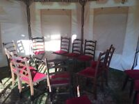 PUB OR BAR FURNITURE, 10 X DINING CHAIRS AND TABLE. EXCELLENT CONDITION.