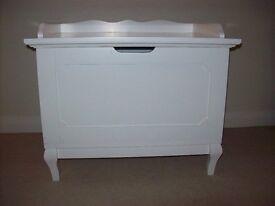 White storage chest as new