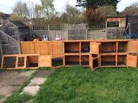 2 Rabbit Hutches and Run for Sale