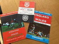 England-Wales football programmes