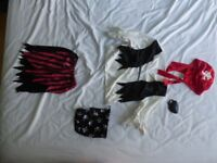 boy's and girl's pirate dressing-up costumes, suit 2-4 year olds