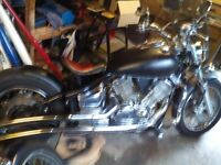Yamaha 1100 cc Black Bobber Bike