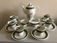 Art Deco grindley green-gables coffee set