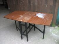 Folding table used condition good frame ideal shabby chic project delivery available £5