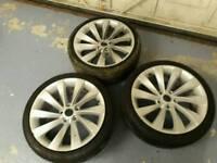 18 inch audi vw turbine alloy wheels pcd 5x112
