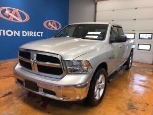 2014 RAM 1500 SLT 4X4/ HEMI/ QUAD CAB/ POWER GROUP/ BACK-UP CAM