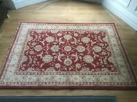 Large John Lewis red patterned rug