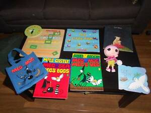 Kids books and wooden calendar and La La loopsy doll Wetherill Park Fairfield Area Preview