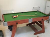 Junior snooker/billiard table 6ft by 3ft