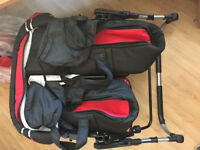twins pram brand new in red colour stroller pushchair