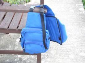 blue saddle bag new