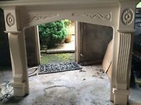 Decorative Mahogany Fireplace - accept £35