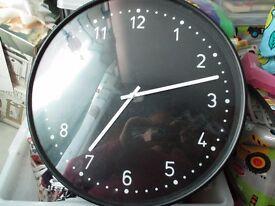 BLACK KITCHEN CLOCK