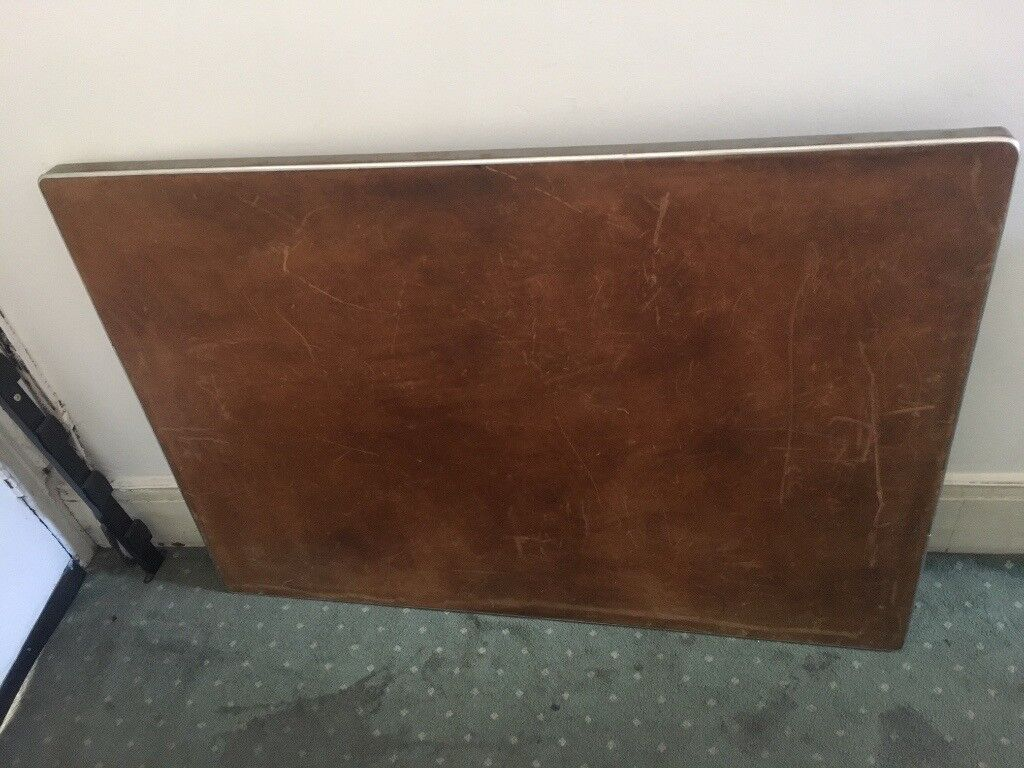 Tabletop Metal And Leather Large Vintage Table Desk Office Home Retro In West End London Gumtree
