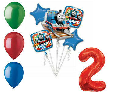 Thomas and Friends Balloon Bouquet 2nd Birthday Party Supplies Decorations Train - Thomas And Friends Balloons