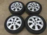 """Vauxhall corsa 15"""" alloy wheels - good tyres"""