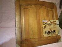 4 x Solid Pine Antique-style Cabinet Doors 560 x 595mm