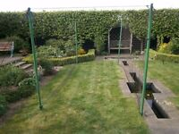 Cricket practice nets suitable for garden use