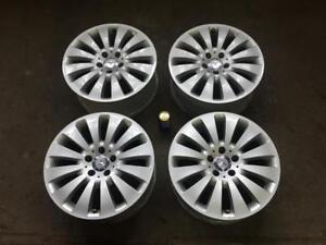 "MERCEDES 17"" FACTORY ORIGINAL 12 SPOKE POWDER COAT SILVER"