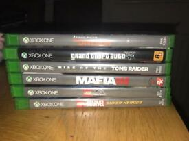 X Box One 500gb with 6 Games