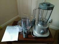 Kenwood FPP225 Food Processor/ blender, silver, unused.