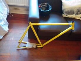 Yellow Retro Bike Frame - Perfect Project £40.00