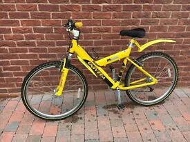 Ladies mountain bike with front suspension and 21 gears