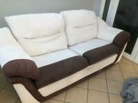 3 Seater Sofa Settee, Armchair and Poufe