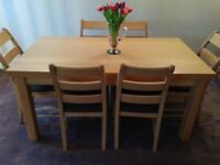Gorgeous Marks and Spencer Dining Table and 6 Chairs